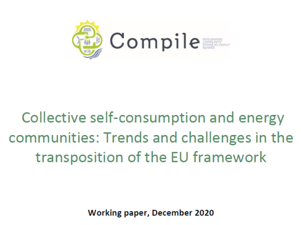 Working paper on collective self-consumption and energy communities: Trends and challenges in the transposition of the EU framework